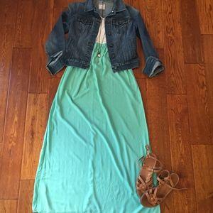 Forever 21 Seafoam Green Long Maxi Dress